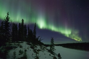 Aurora over the Hay River, Northwest Territories